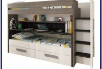 Twin Bunk Bed With Desk And Drawers