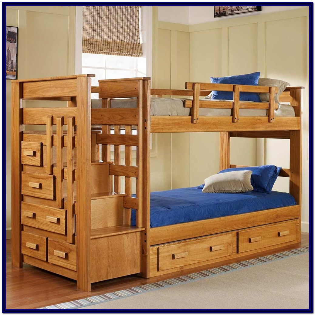 Twin Bunk Beds With Stairs And Storage