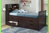 Twin Captains Bed With Storage And Headboard