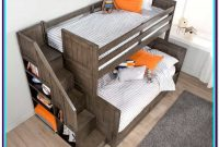 Twin Over Double Bunk Bed With Stairs