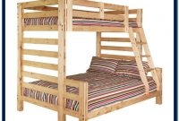 Twin Over Full Bunk Bed Solid Wood