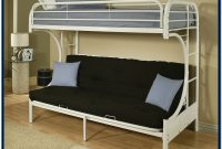 Twin Over Full Bunk Bed White Metal