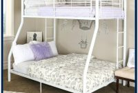 Twin Over Full Bunk Bed White Wood