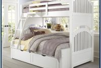 Twin Over Full Bunk Bed With Stairs White