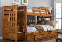 Twin Over Full Bunk Bed With Storage Plans