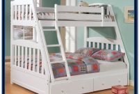 Twin Over Full Bunk Bed With Storage White