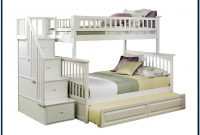 Twin Over Full Bunk Bed With Trundle White
