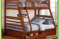 Twin Over Queen Bunk Bed With Storage