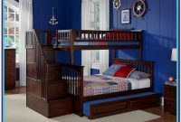 Twin Over Twin Bunk Bed With Stairs And Trundle
