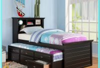Twin Platform Bed With Drawers And Bookcase Headboard