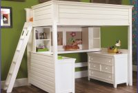 White Bunk Bed With Desk And Drawers