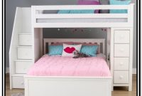 White Bunk Bed With Stairs And Storage