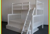 White Bunk Beds Twin Over Full With Trundle