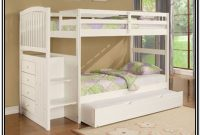 White Bunk Beds With Stairs And Trundle