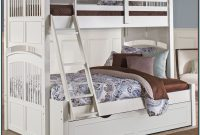 White Full Bed With Twin Trundle