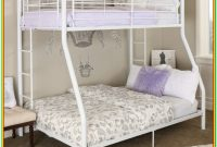 White Metal Bunk Beds Twin Over Full
