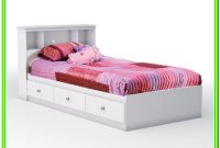 White Twin Bed With Drawers Under