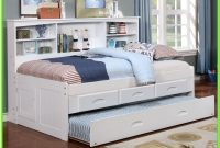White Twin Bed With Trundle And Drawers