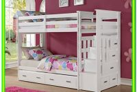 White Twin Bed With Trundle And Storage Drawers