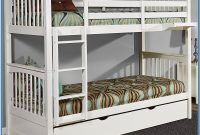 White Twin Over Twin Bunk Bed With Trundle
