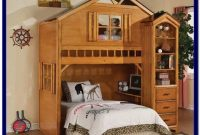 Wood Bunk Bed With Desk And Drawers