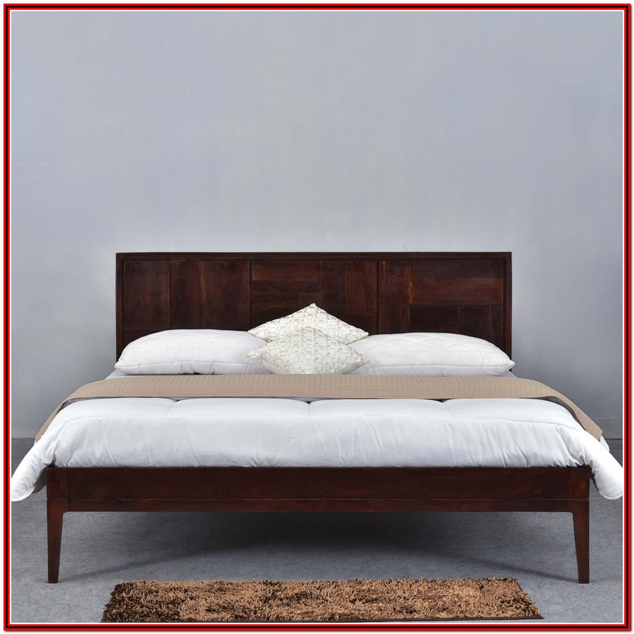 Wood Platform Bed Frame With Headboard King