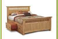 Wooden Bed Frames With Storage Drawers