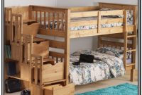 Wooden Bunk Bed With Stairs Uk