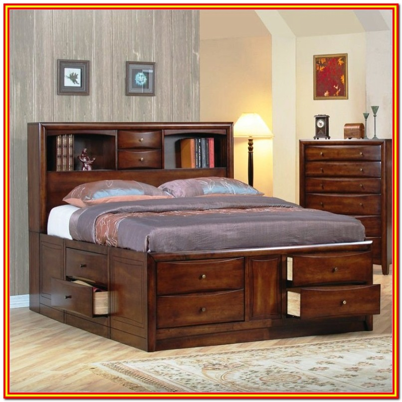Black Queen Bed Frames With Storage