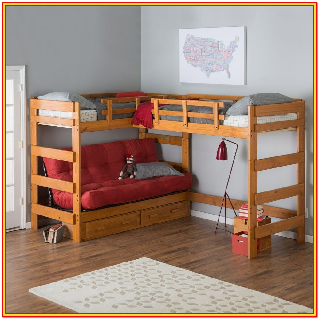 Bunk Bed With Storage Underneath