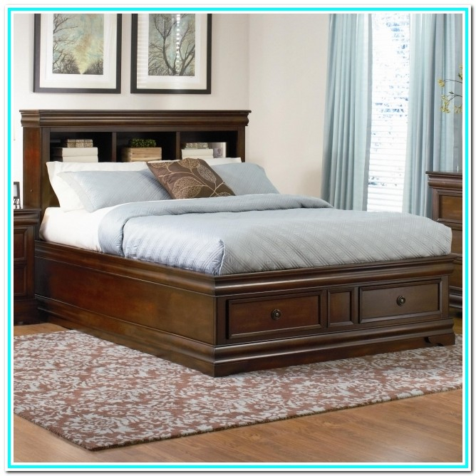 Cal King Platform Bed With Drawers