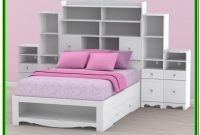 Full Size Bed Headboard With Shelves