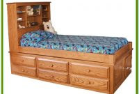 Full Size Captains Bed With 6 Drawers