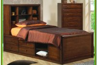 Full Size Captains Bed With Bookcase Headboard