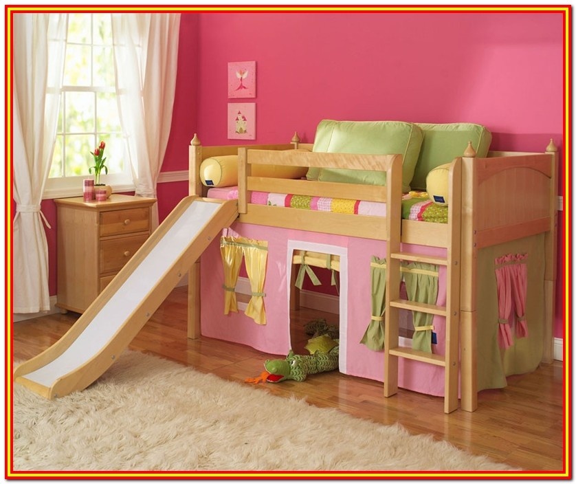 Full Size Loft Bed Plans With Slide