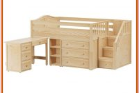 Full Size Loft Bed With Storage And Desk