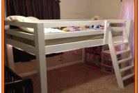 Full Size Low Loft Bed Frame