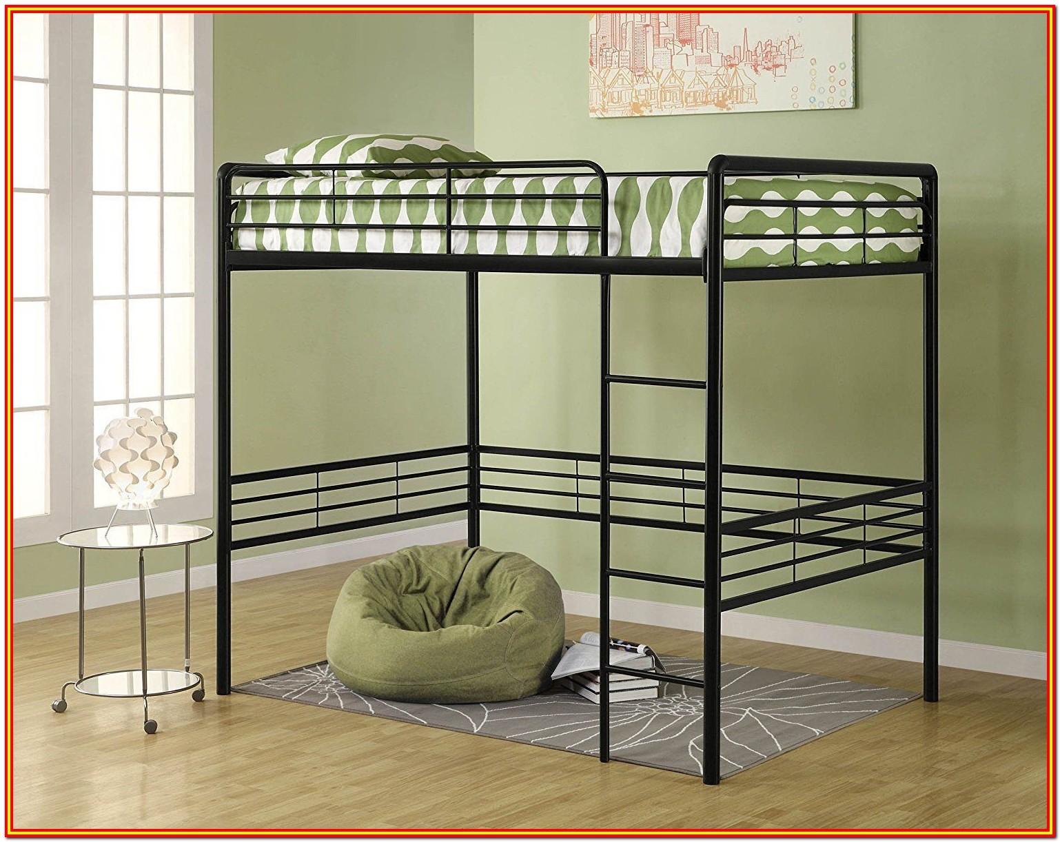 Full Size Metal Loft Bed Frame