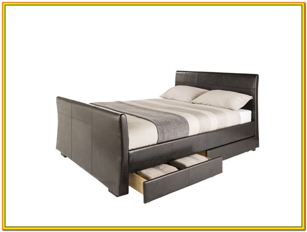 King Size Bed Drawers Storage Headboard