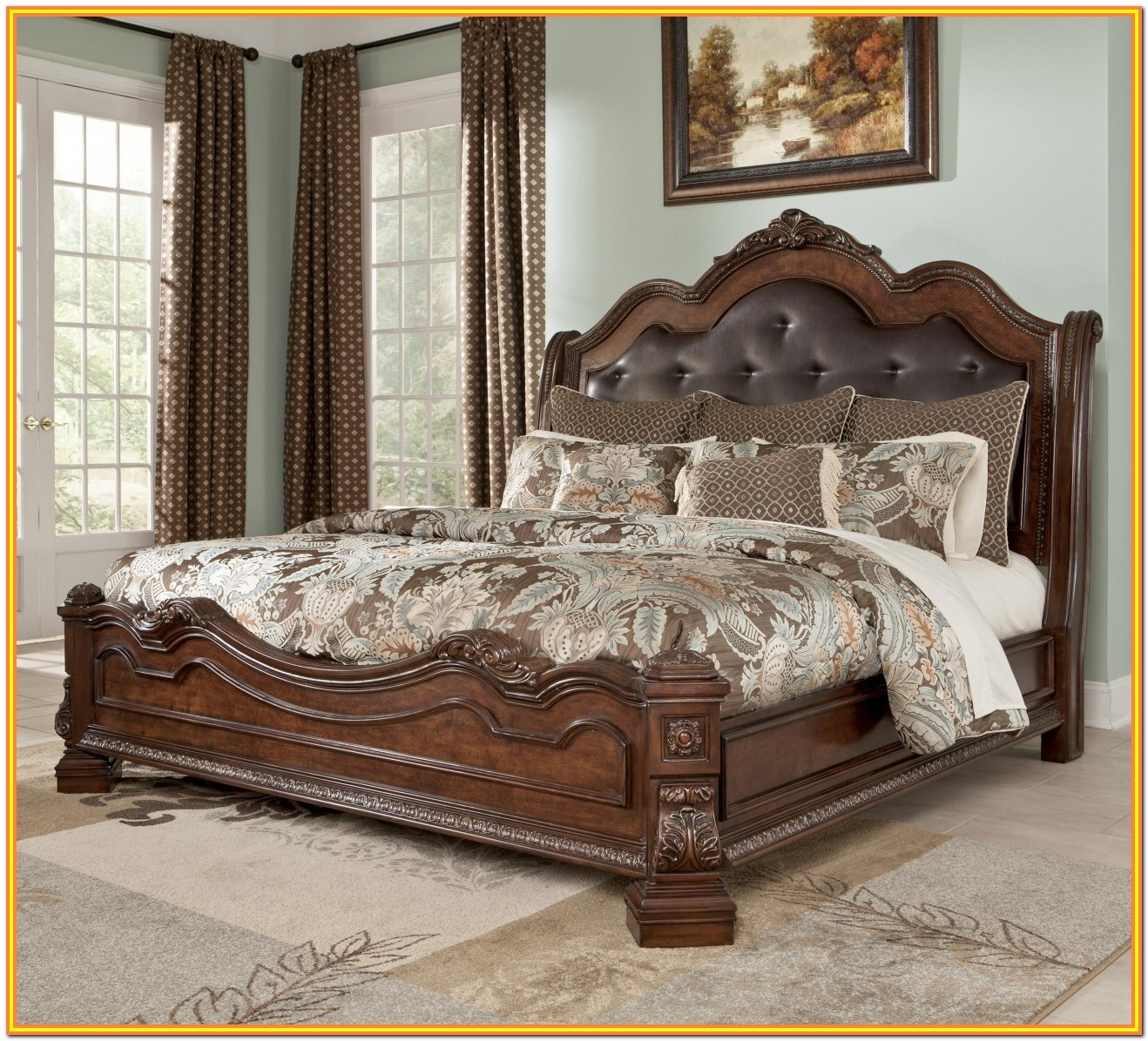 King Size Bed Frame With Headboard And Storage