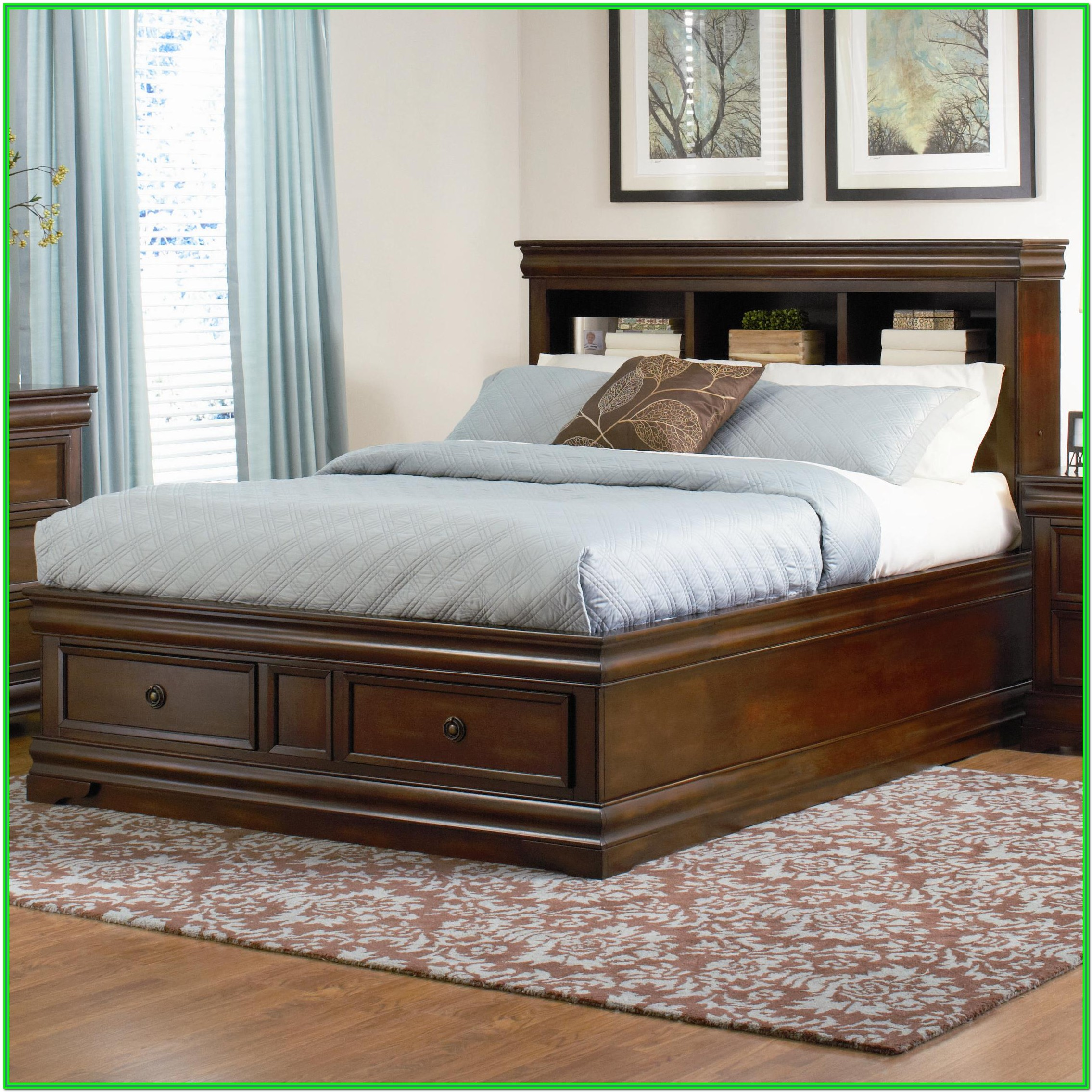 King Size Bed Frame With Storage Underneath Diy