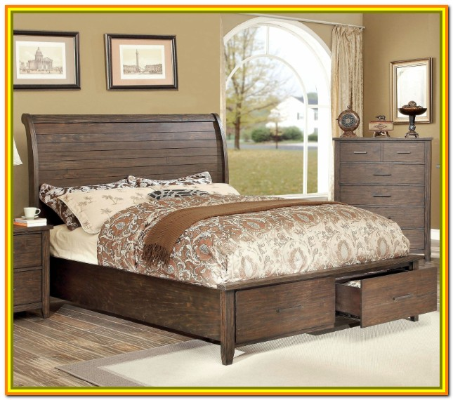 King Size Bed With Storage Underneath