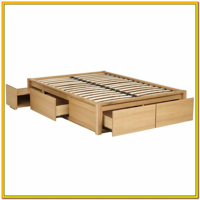 King Size Platform Bed With Storage And Headboard Plans