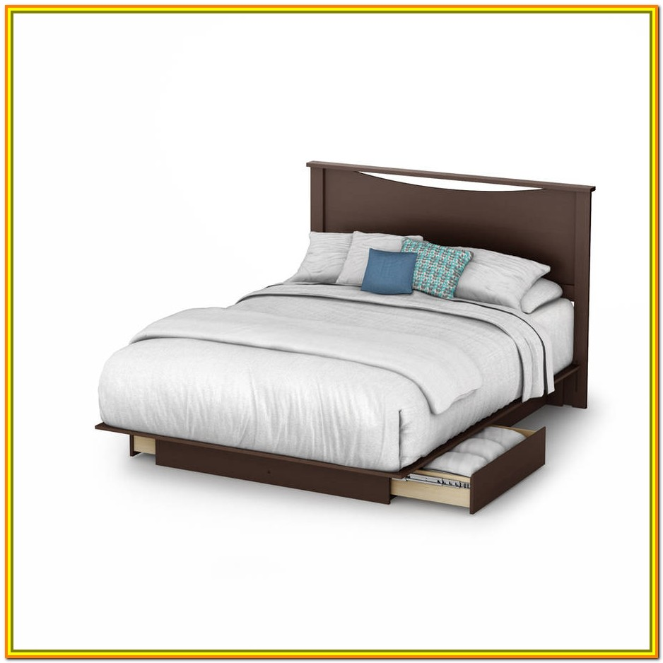 King Size Platform Bed With Storage And Headboard
