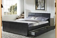 King Size Sleigh Bed Frame With Drawers
