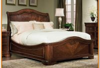 King Size Sleigh Bed Wooden