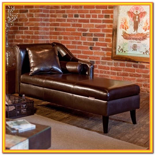 Leather Sofa Bed With Storage Chaise