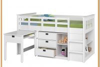 Low Loft Bed With Storage And Desk