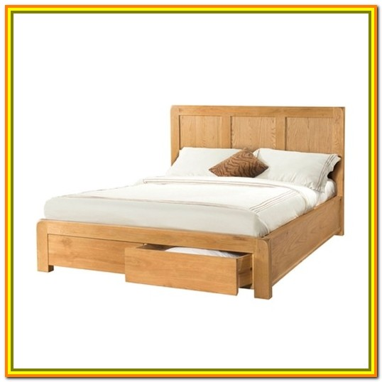 Oak King Size Bed With Storage Drawers