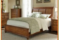 Oak Sleigh Bed King Size With Storage